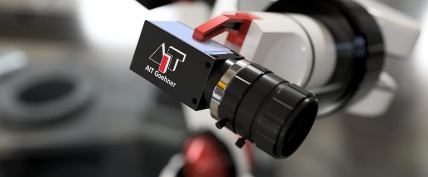 AIT Industriekamera am Roboter