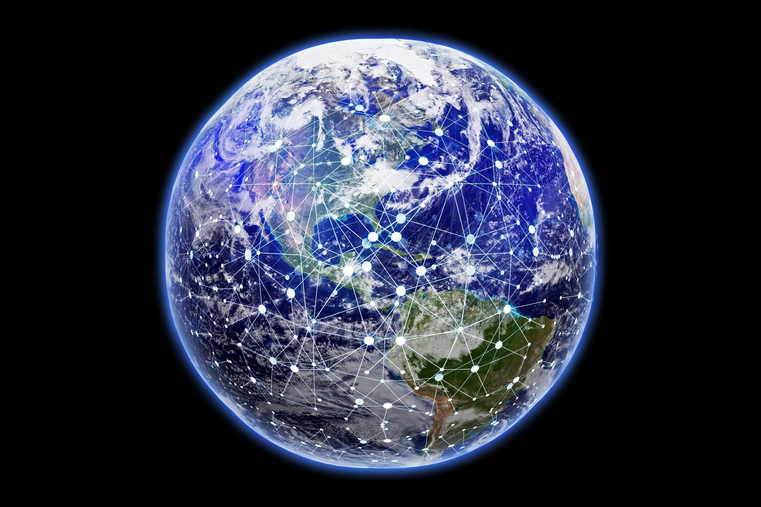 Vernetzte Weltkugel