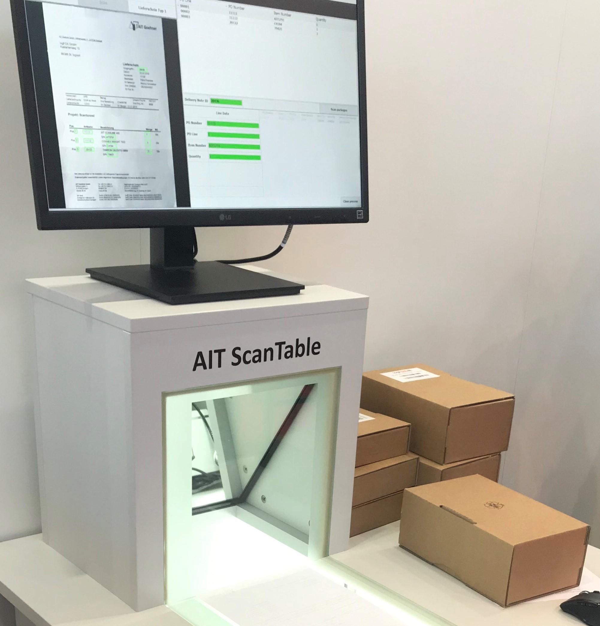 AIT ScanTable automatisierte Lieferscheinerfassung